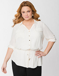 Peplum blouse by Lane Bryant