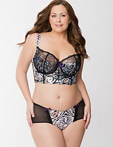 Leopard Longline French Balconette Bra Ensemble