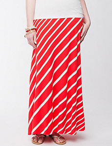 Diagonal striped maxi skirt by Lane Bryant