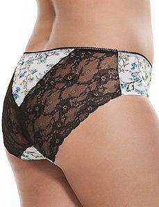 Lace back hipster panty
