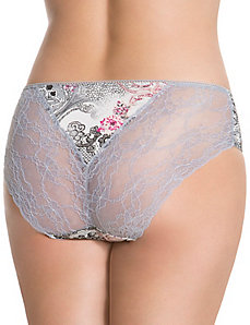 Lace back hipster panty