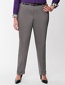 Belted double weave ankle pant by Lane Bryant