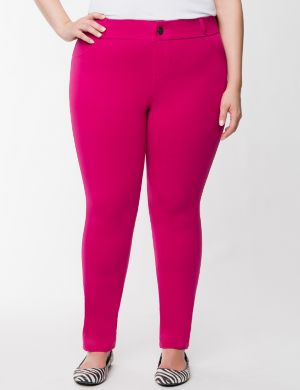 Colored casual french terry skinny pant