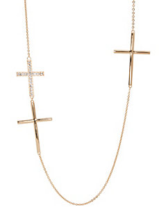 Triple cross necklace by Lane Bryant