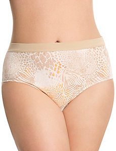 High-leg cotton panty with comfort band by Cacique