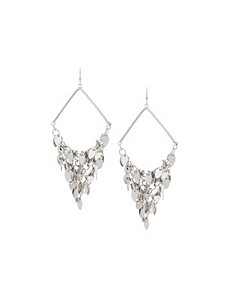 Triangle disc drop earrings by Lane Bryant