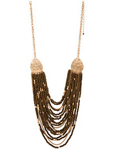 Nested wooden bead necklace by Lane Bryant