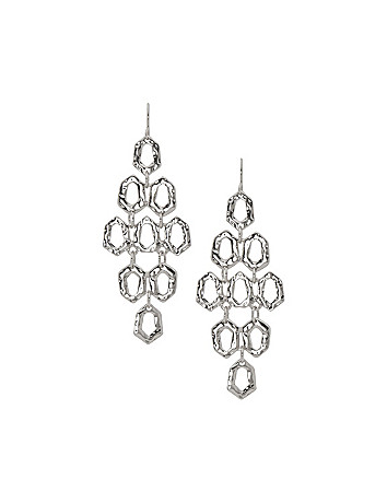 Hammered waterfall earrings by Lane Bryant