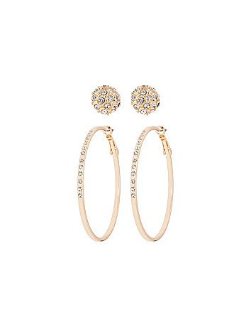Hoops & domes earring duo by Lane Bryant