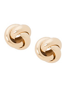 Knotted stud earrings by Lane Bryant