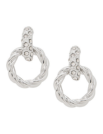 Door knocker earrings by Lane Bryant