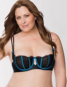 Lace balconette bra with boning by LANE BRYANT