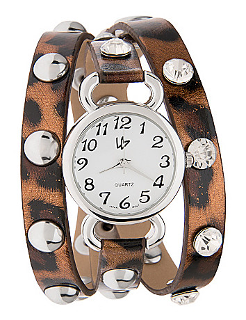 Studded wrap watch by Lane Bryant