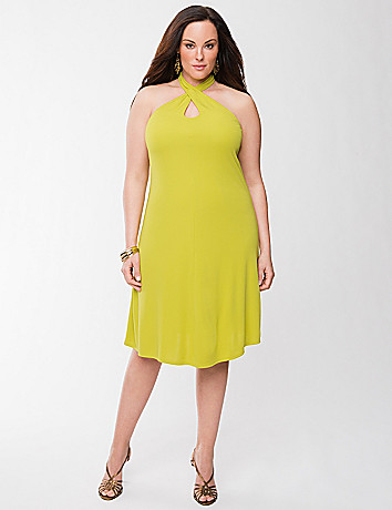 Lane Collection keyhole halter dress