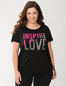 Inspire Love Shirred Tee by LANE BRYANT
