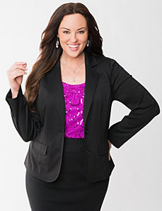 Ponte fitted jacket by LANE BRYANT