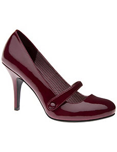Mary Jane patent pump by LANE BRYANT