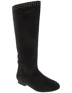 Studded slouch boot by LANE BRYANT