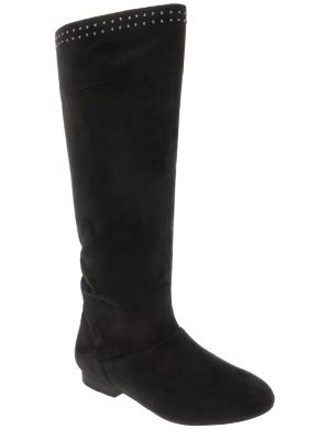 Studded slouch boot