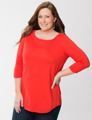 Button shoulder tunic