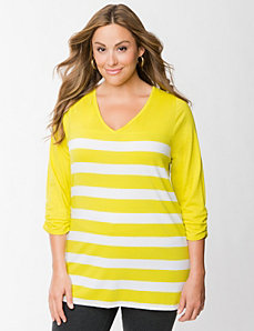Striped tunic by LANE BRYANT