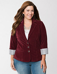 Corduroy blazer by LANE BRYANT