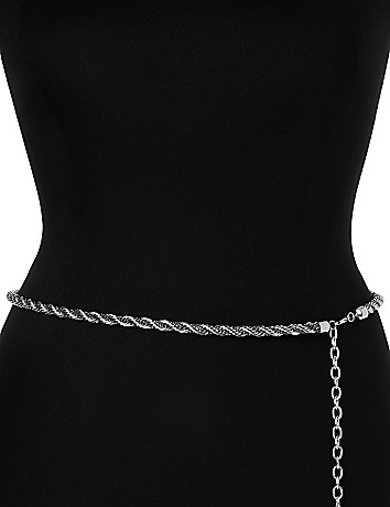Twisted chain belt