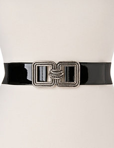 Square buckle stretch belt by LANE BRYANT