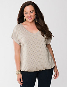 Lane Collection studded top by LANE BRYANT