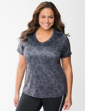 Lace print active tee by Reebok