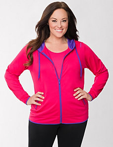 Full zip hoodie by Reebok by LANE BRYANT