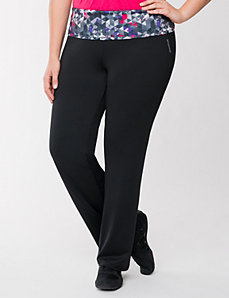 Roll down waist pant by Reebok by LANE BRYANT