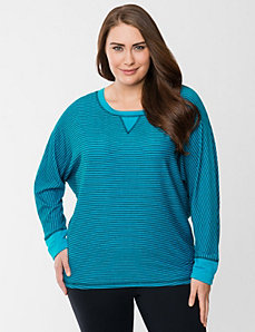 Striped boat neck dolman by LANE BRYANT