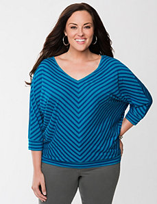 Shadow stripe wedge tee by Lane Bryant