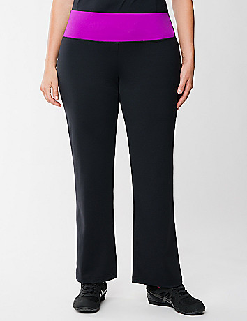 TruDry yoga pant with colored waist