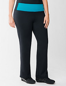 TruDry yoga pant with colored waist by LANE BRYANT