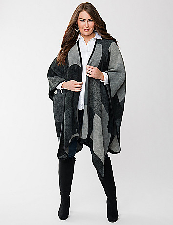 Colorblock cape