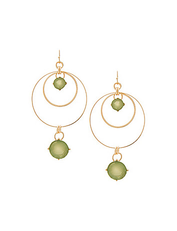 Double hoop & stone earrings by Lane Bryant