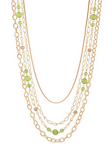 Multi chain bead necklace by Lane Bryant by LANE BRYANT