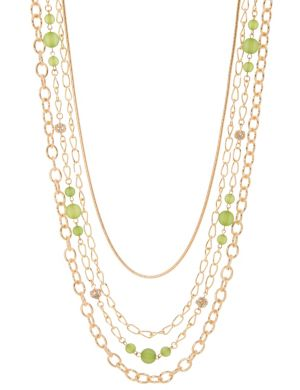 Multi chain bead necklace by Lane Bryant