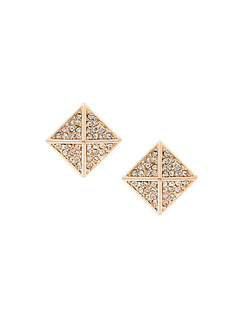 Cubic zirconium pyramid earrings by Lane Bryant