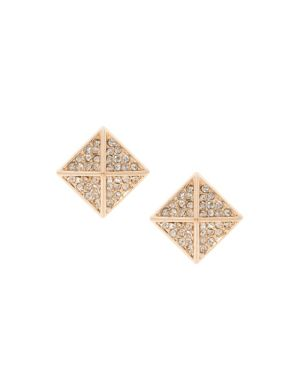 Cubic zirconium pyramid earrings by Lane Bryant