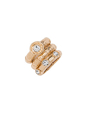 Stacked cubic zirconium 3 ring set by Lane Bryant