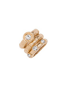 Stacked cubic zirconium 3 ring set by Lane Bryant by LANE BRYANT