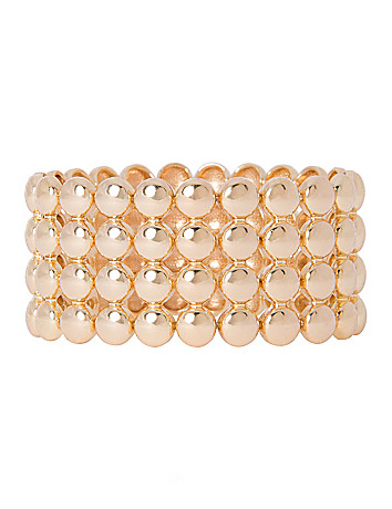 4 row shot bead bracelet by Lane Bryant