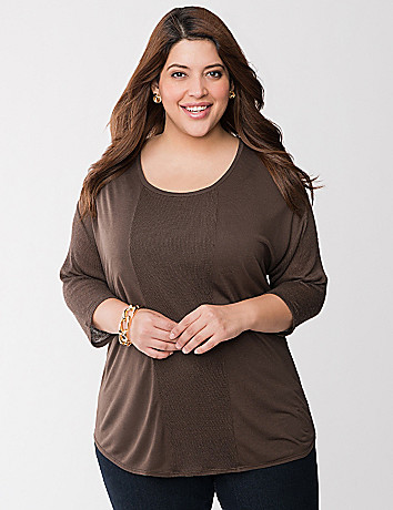 Pieced knit tunic