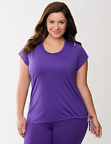 Side tie tunic by Reebok by LANE BRYANT