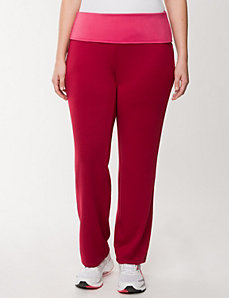 Roll-down active pant by Reebok by LANE BRYANT