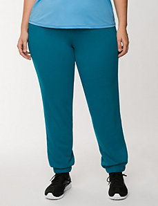 French terry active pant by Reebok by LANE BRYANT