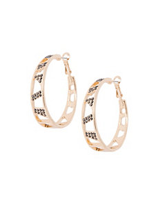 Cut-out hoop earrings by Lane Bryant
